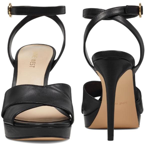 4285bd2865 Nine West Shoes | Quisha Ankle Strap Sandle Heels Size 10 | Poshmark